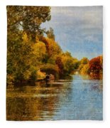 River Thames At Staines Fleece Blanket