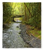 River Through The Rainforest Fleece Blanket