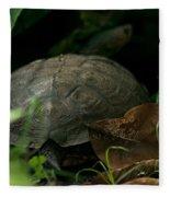 River Turtle 2 Fleece Blanket