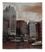 River View Aged Fleece Blanket