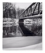 River View B And W Fleece Blanket