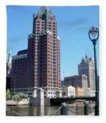 River Walk View Photo Fleece Blanket