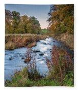 River Wansbeck At Wallington Fleece Blanket