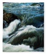 River With Rapids Fleece Blanket