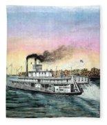 Riverboat Bald Eagle Fleece Blanket