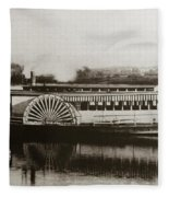 Riverboat  Mayflower Of Plymouth   Susquehanna River Near Wilkes Barre Pennsylvania Late 1800s Fleece Blanket