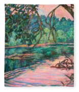 Riverview At Dusk Fleece Blanket