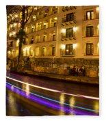 La Mansion Del Rio Riverwalk Christmas Fleece Blanket