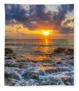 Riviera Beach Sunrise  Fleece Blanket