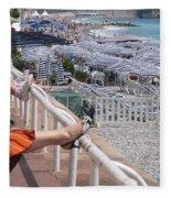 Riviera Breeze Fleece Blanket
