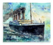 Rms Titanic White Star Line Ship Fleece Blanket