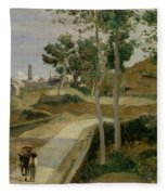 Road From Volterra Fleece Blanket
