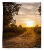 Road In Botswana Fleece Blanket