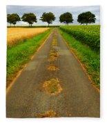 Road In Rural France Fleece Blanket