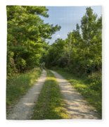 Road In Woods 1 F Fleece Blanket