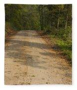 Road In Woods Autumn 2 A Fleece Blanket