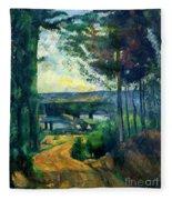 Road Leading To The Lake, By Paul Cezanne, Circa 1880, Kroller-m Fleece Blanket