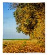 Road Of Leaves Fleece Blanket