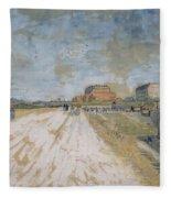 Road Running Beside The Paris Ramparts Paris, June - September 1887 Vincent Van Gogh 1853  1890 Fleece Blanket