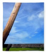 Road Side View Of Countryside Fleece Blanket