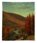 Road Through Belvedere Fleece Blanket