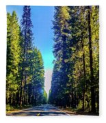 Road Through The Forest Fleece Blanket