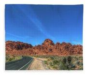 Road Through Valley Of Fire  Fleece Blanket