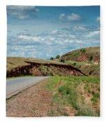 Road To Antananarivo Fleece Blanket
