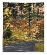 Road To Autumn Fleece Blanket