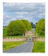 Road To Burghley House-vertical Fleece Blanket
