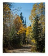 Road To Fall Colors Fleece Blanket