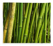 Road To Hana Bamboo Panorama - Maui Hawaii Fleece Blanket