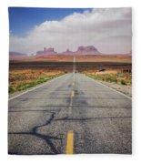 Road To Monument Valley Fleece Blanket