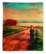 Road To Red Gables Fleece Blanket