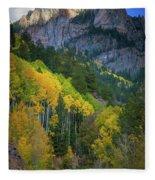 Road To Silver Mountain Fleece Blanket