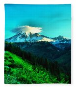 Road To The Mountain  Fleece Blanket