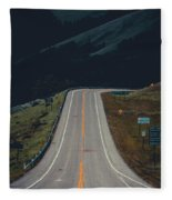 Road To The Mountains Fleece Blanket