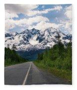 Road To Valdez Fleece Blanket