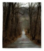 Road To Wildlife Fleece Blanket