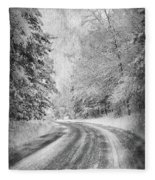 Road To Winter Fleece Blanket