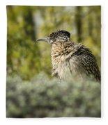 Roadrunner On Guard  Fleece Blanket