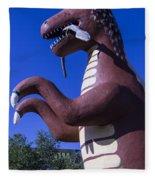 Roadside Dinosaur Fleece Blanket