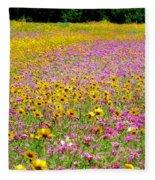 Roadside Flower Garden Fleece Blanket