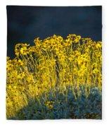 Roadside Flowers Fleece Blanket