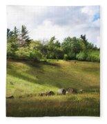 Roadside Hill Fleece Blanket
