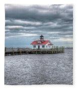 Roanoke Marshes Lighthouse, Manteo, North Carolina Fleece Blanket