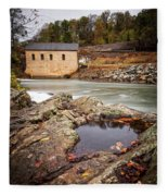 Roanoke River Niagra Rd Dam Fleece Blanket