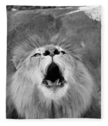 Roar  Black And White Fleece Blanket
