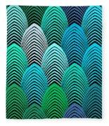 Roaring 20's Turquoise Fleece Blanket