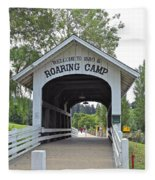 Roaring Camp Covered Bridge Fleece Blanket